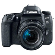 Canon EOS 77D Digital SLR Camera Body Kit, with EF-S 18-55mm F3.5-5.6 IS STM Lens