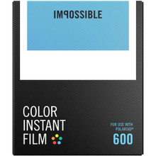 Impossible Color Instant Film for 600 (White Frame, 8 Exposures)