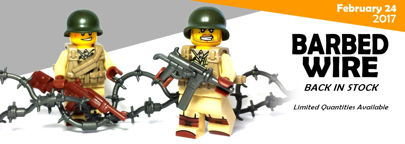 Custom Lego WW2 Guns and Barbed Wire