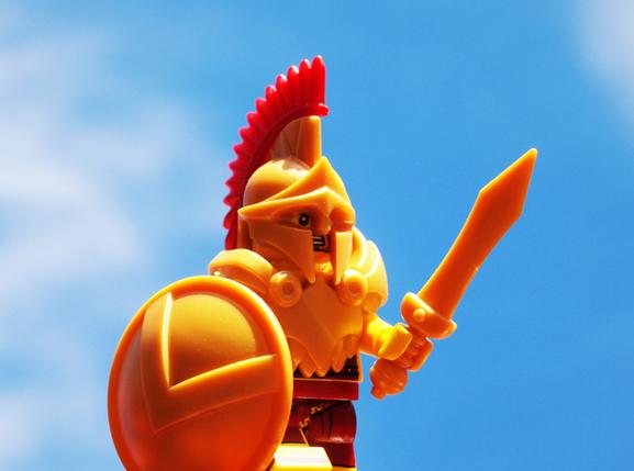 Custom LEGO Helmet Spotlight - Spartan Helmet - BrickWarriors Horned Viking Helmet Goblin Rocket Helmet