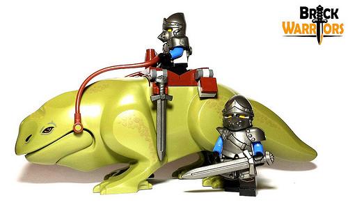 New Custom Lego Helmet Revealed - Pig Snout - BrickWarriors Horned Viking Helmet Goblin Rocket Helmet