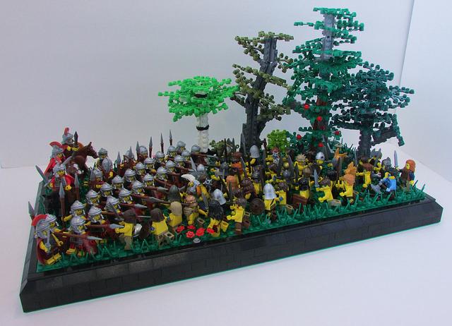 LEGO MOC of the Week - Battle of Watling Street, 61 AD by Hunter Erickson