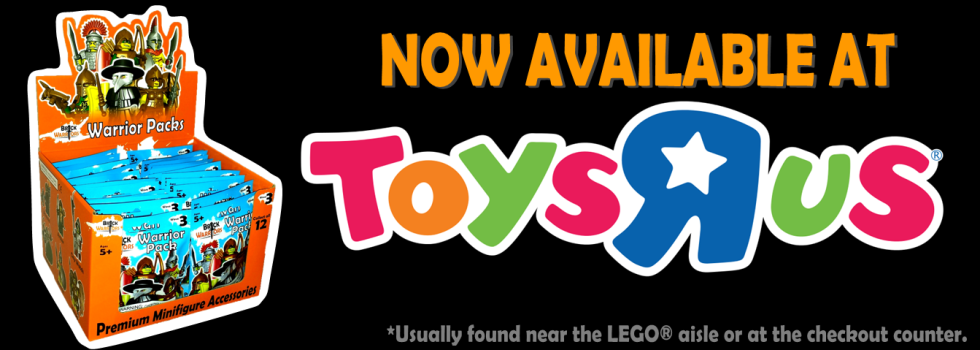 BrickWarriors now available at Toys R Us