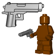 Minifigure Gun - Combat Pistol