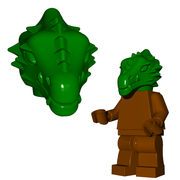 Minifigure Head - Dragonman Head