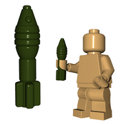 Custom Minifigure Explosives - Mortar Shell