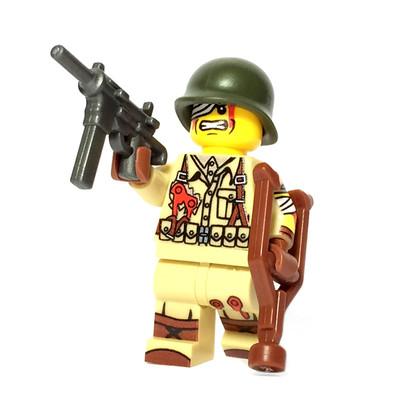 Custom Lego 174 Minifigure Injured Us Soldier