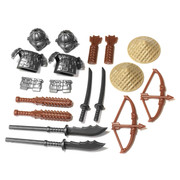 "BrickWarriors 2.5"" Scale Samurai Army Builder Pack"