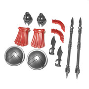 "BrickWarriors 2.5"" Scale Spartan Army Builder Pack"