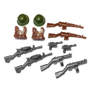 "BrickWarriors 2.5"" Scale WW2 Soviet Infantry Army Builder Pack"