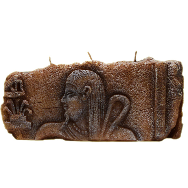 Brown Hieroglyphs Story Candle