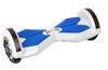 White and blue hoverboard
