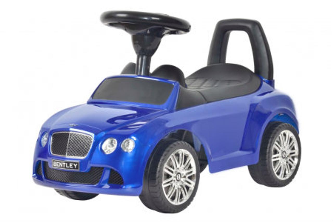 bentley blue push car for kids