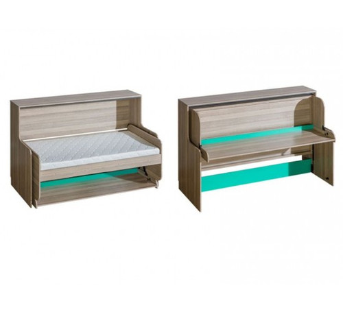 Transformer Bed transformer bed with desk ultimo green - americas toys