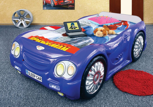 sleep car bed for kids blue