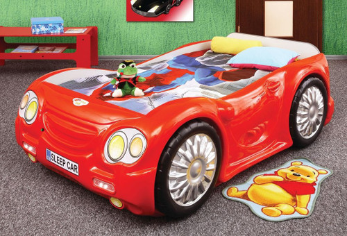 sleep car bed for kids red