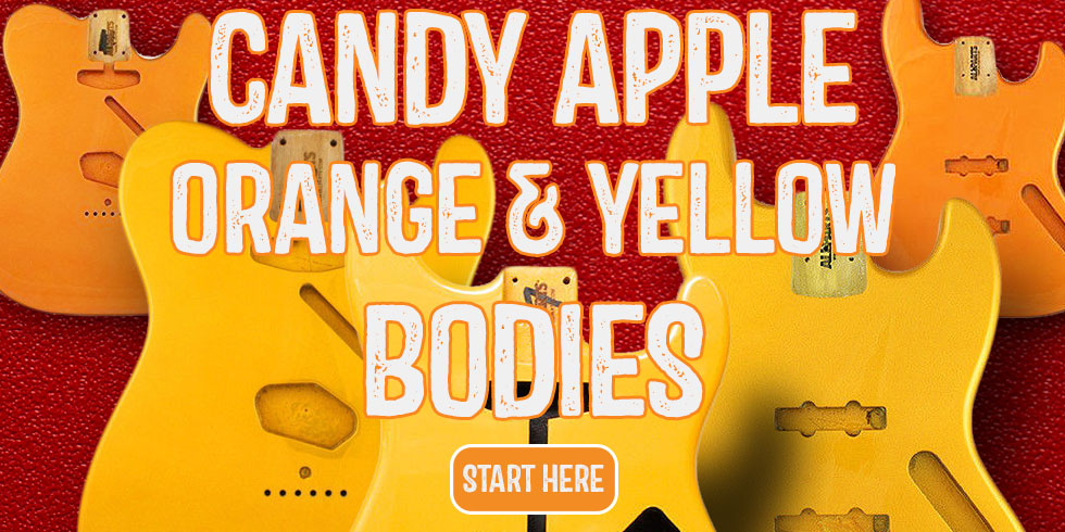 CANDY APPLE ORANGE YELLOW GUITAR BODY