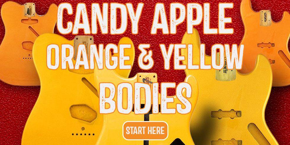 CANDY APPLE ORANGE YELLOW GUITAR BODY