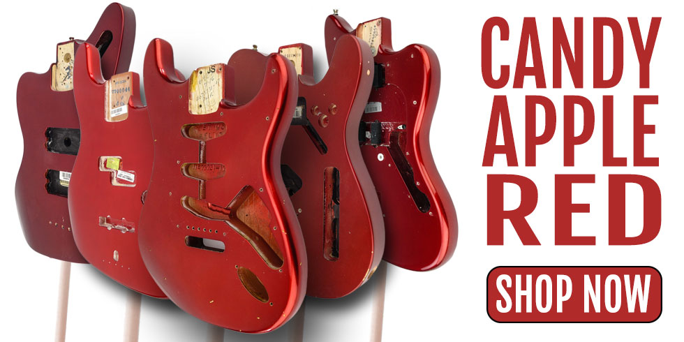 CANDY APPLE RED GUITAR BODIES