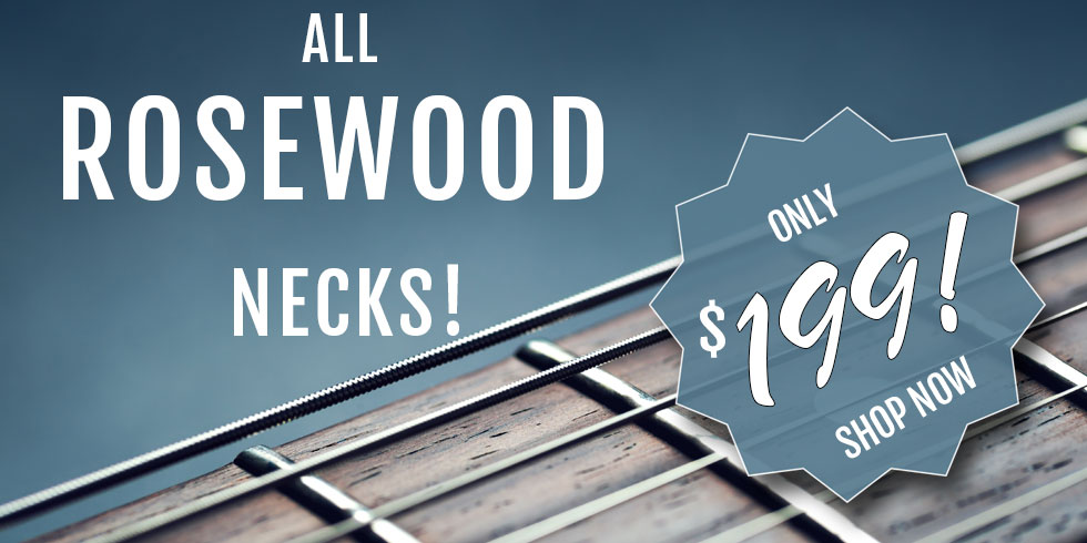 ALL ROSEWOOD GUITAR NECKS