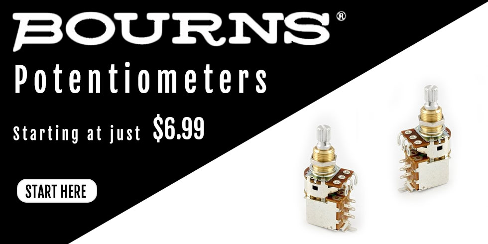 BOURNS GUITAR PENTIOMETERS