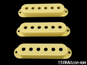 NEW Vintage Cream Stratocaster PICKUP COVER SET Covers Fender Strat Single Coil