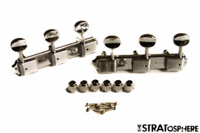 *NEW Vintage Style 3x3 ON PLATE TUNERS for Guitar Gibson Les Paul SG Nickel