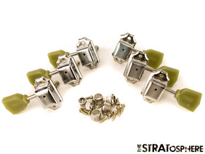 *NEW Vintage Style 3x3 TUNERS for Guitar Gibson Les Paul SG Aged Keystone Nickel