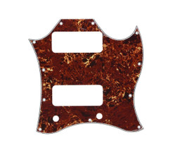 * NEW Brown Tortoise PICKGUARD for USA Gibson SG *Special* P-90s 3 Ply 11 Hole