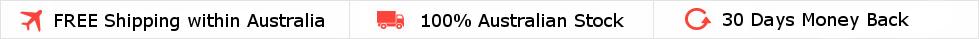 Free Shipping within Australia. 30 day money back guarantee.