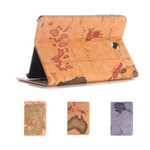 """Samsung Galaxy Tab A 10.1"""" 2016 T580 T585 World Map Leather Case Cover"""