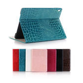 "New iPad 9.7"" 2017 Croc-Style Leather Apple Case Cover iPad5 5th inch"