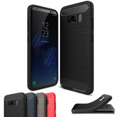 Slim Samsung Galaxy S8 Phone Carbon Fiber Soft Carbon Fiber Case Cover