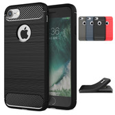 Slim iPhone 8 7 Shockproof Soft Carbon Case Cover Apple Skin iPhone8