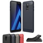 Slim Samsung Galaxy J8 Carbon Fiber Soft Carbon Case Cover 2018 J810