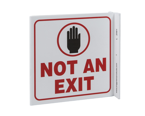 Not an Exit projecting sign