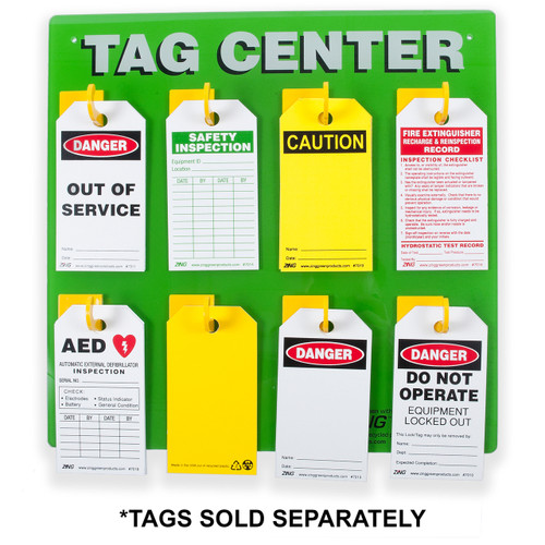 Tag Center 8 Hook Lockout Tagout Zing Green Products