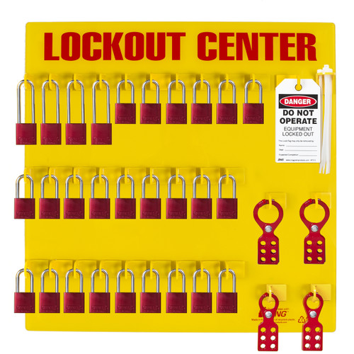 Lockout Station With 28 Padlocks Zing Green Products