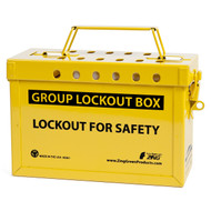 Group Lockout Box (Yellow)