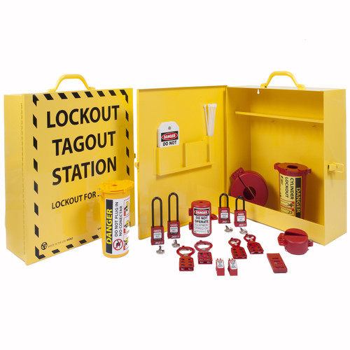 Portable Lockout Station, stocked | Zing Green Products