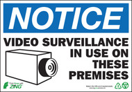 NOTICE Video Surveillance In Use On These Premises