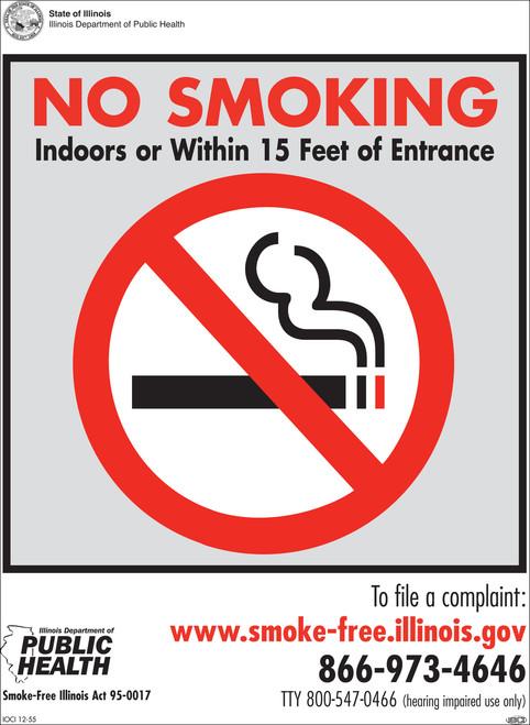 illinois no smoking sign no smoking signs zing