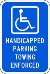 Handicapped Parking Towing Enforced