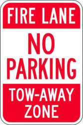 Fire Lane No Parking Tow Away Zone