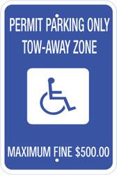 Eco Parking Sign, 18X12, EGP