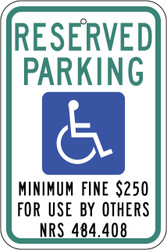 Eco Parking Sign, 18X12, EGP