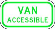 Van Accessible Parking Sign, Aluminum