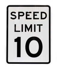 Speed Limit 10, EGP, Traffic Sign