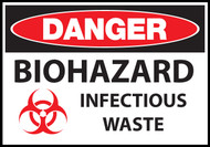 Danger sign, Biohazard Infectious Waste