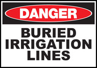Danger Sign Buried Irrigation Lines